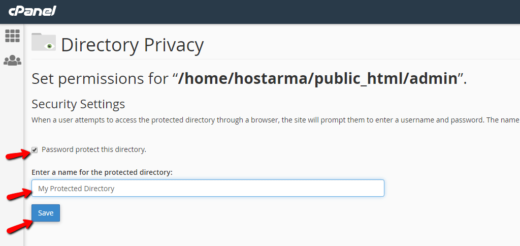 Directory Privacy - configuration