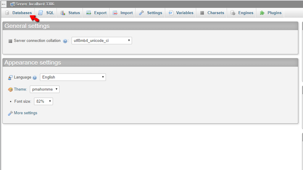Access Databases tab