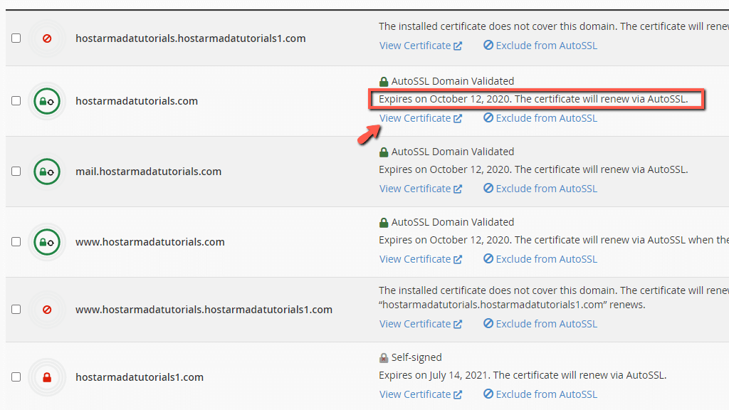 View SSL certificate expiration date