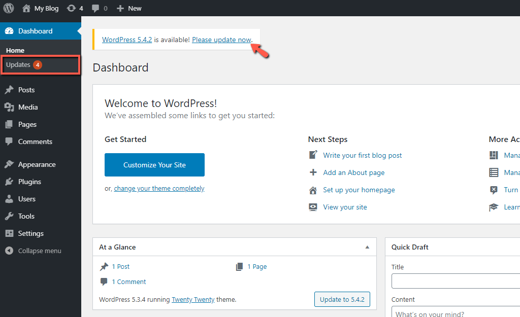 WordPress Automatic Update Feature
